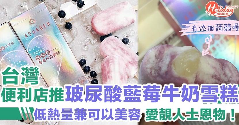 【台灣限定美食】愛靚人士恩物!食雪條兼美容 台灣便利店推玻尿酸藍莓牛奶雪糕