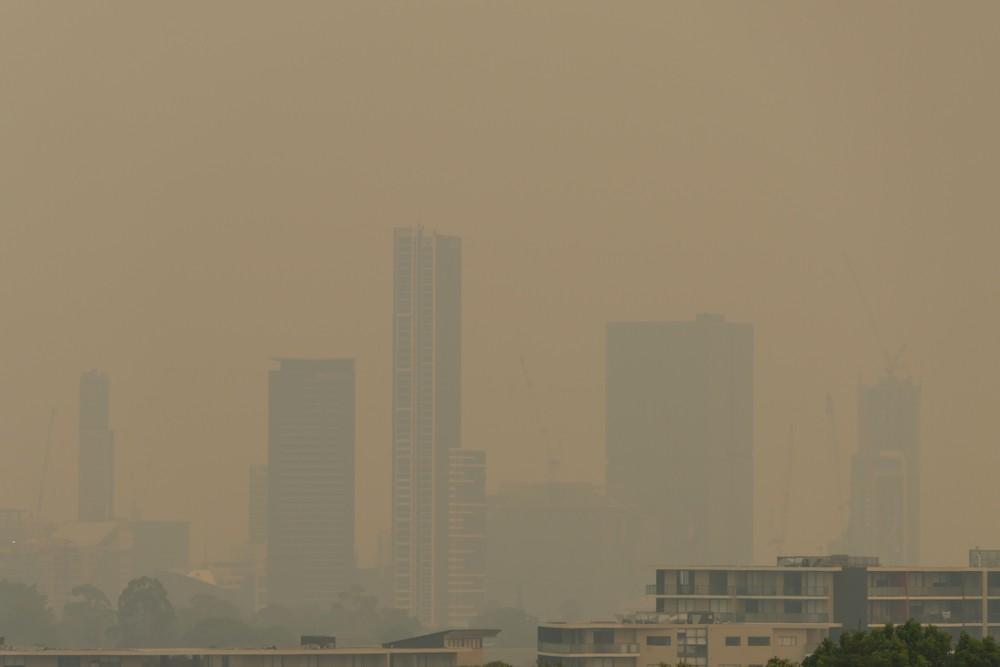 澳洲 山火 悉尼 空氣污染 橙色霧霾