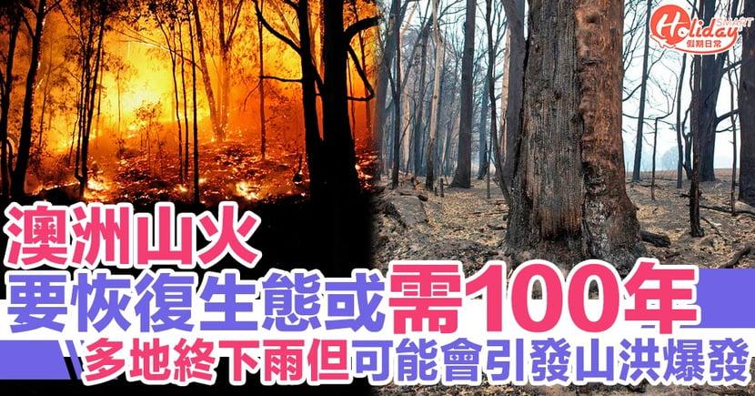 專家指澳洲山火後要恢復生態或需100年 多地終下雨但可能會引發山洪爆發