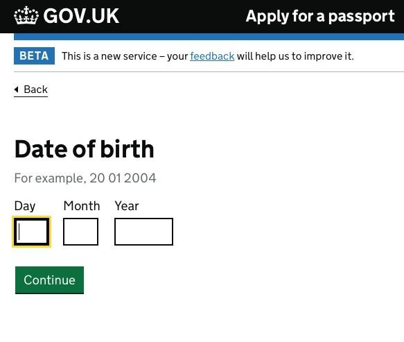輸入出生日日期