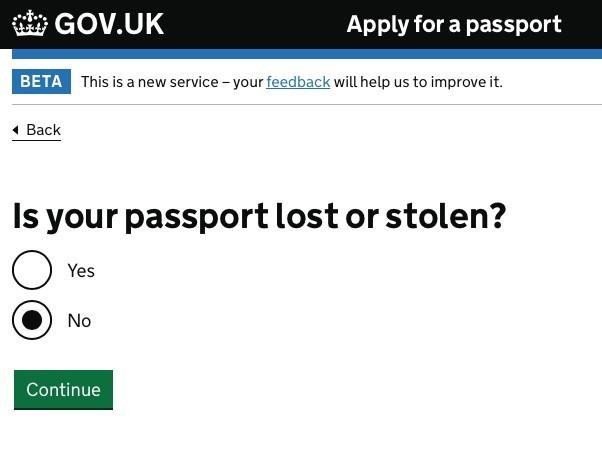 「你的護照是否已遺失或被盜?」