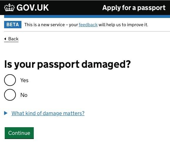 「你的護照有否損毀?」
