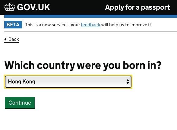 「你在哪個國家出生?」