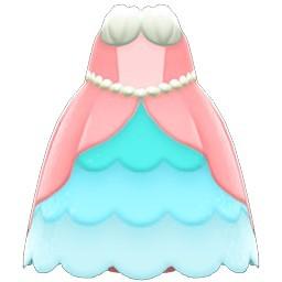 人魚公主裙(紅色)