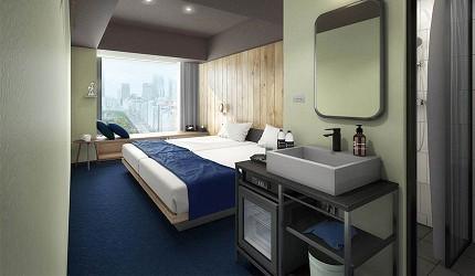 酒店房間裝修風格走簡約風,房型選擇都唔少