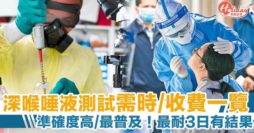 【新冠肺炎病毒檢測】深喉唾液/快速測試/核酸測試 5種測試方法、時間、地點及收費比較