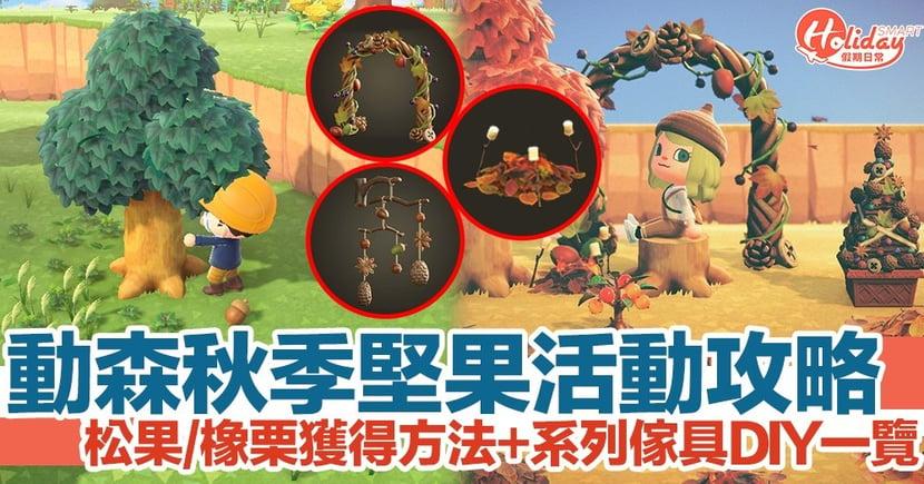 《動物森友會》秋季堅果系列傢具DIY一覽!如何獲得松果/橡栗?
