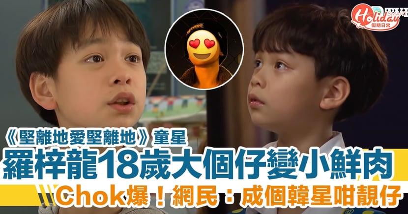《堅離地愛堅離地》童星羅梓龍 18 歲大個仔變超 Chok 小鮮肉 網民:成個韓星咁靚仔