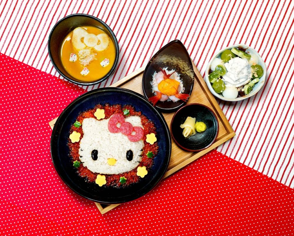 丸十日本食堂聯乘Sanrio,由即日起至2021年4月18日推出Hello Kitty限定套餐。