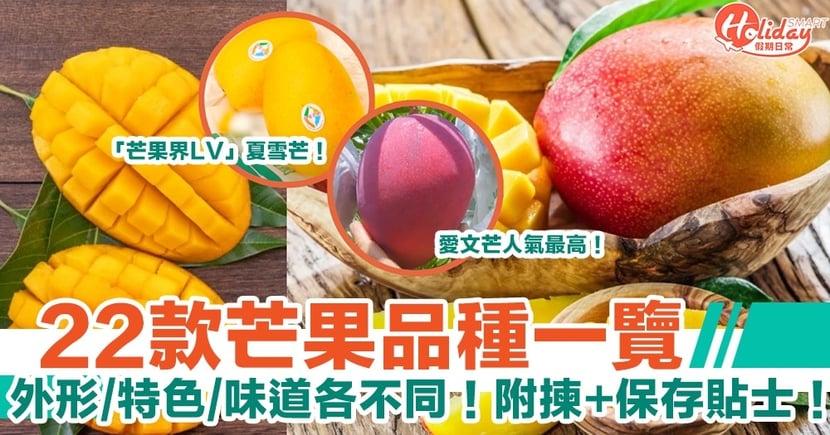 【芒果品種】22種芒果愛文、金煌、呂宋邊款最甜?附點揀+保存芒果貼士!