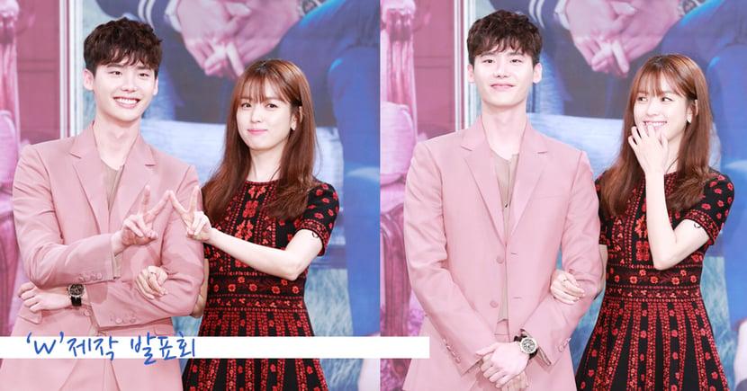 李鍾碩韓孝周劇中吻過頭...甜蜜現身《W-兩個世界》製作發布會 !
