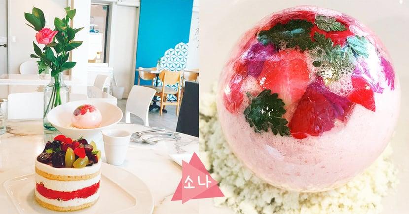 打卡拍照必到之處~女孩最愛粉紅色,超美又好吃的香檳雪球!
