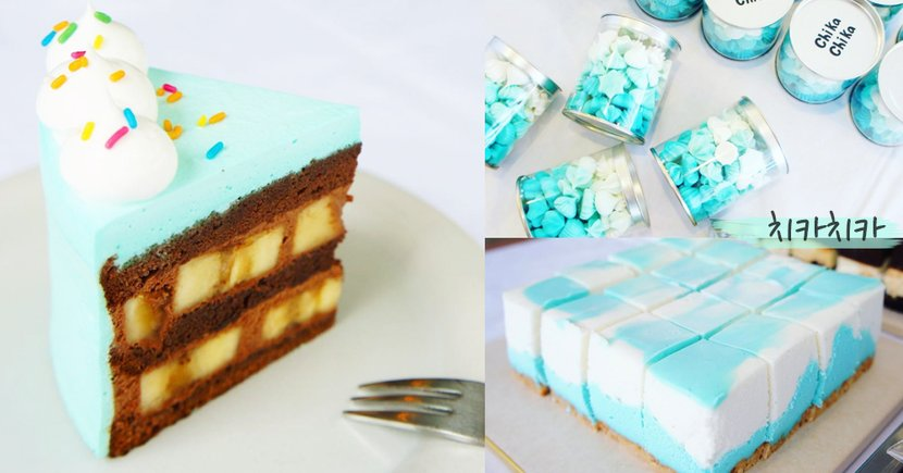 天空藍與薄荷綠哪個更吸引~首爾超美少女色系甜品!選擇困難症又要犯了吧~