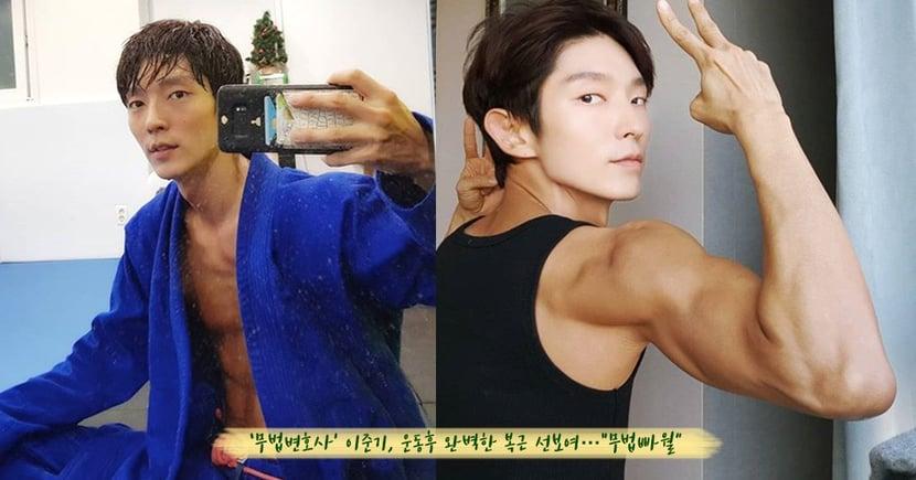 李準基這身材不科學!手臂肌肉都快比臉還大,勤練巴西柔術的他還在IG曬「結實六塊肌」呢~