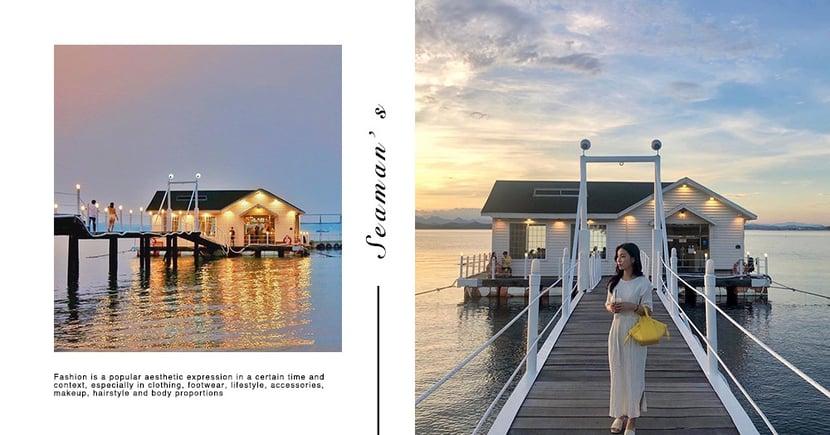 韓國慶尚南道♥ 씨맨스 Seaman' s 海上船屋咖啡廳,享受絕美海景與夕陽~