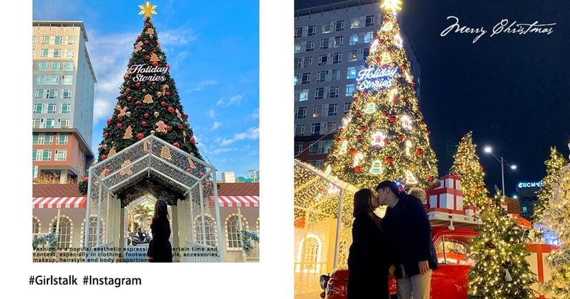 韓國首爾聖誕打卡聖地!時代廣場的「巨大聖誕樹」,情侶約會Best景點~