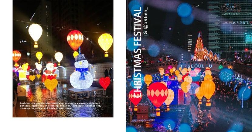 【2019韓國聖誕】清溪川首爾聖誕慶典夜景,繽紛可愛的燈會必打卡~