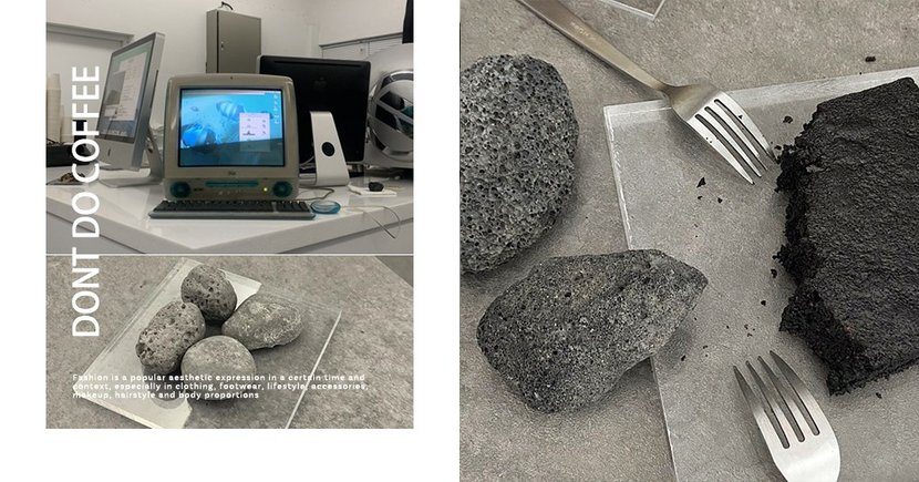 一起來研究吃石頭!? 釜山「研究所」主題咖啡廳推出石頭造型甜點,超逼真!
