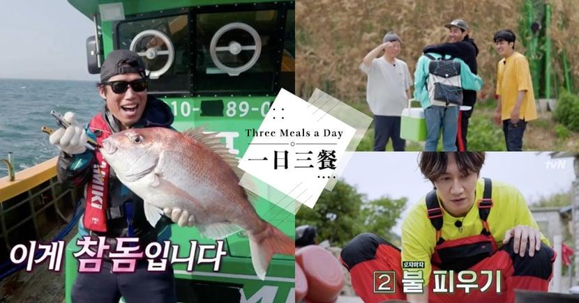 《一日三餐》時隔5年捕獲超大鯛魚!最沒神秘感的嘉賓「李光洙」來作客啦~