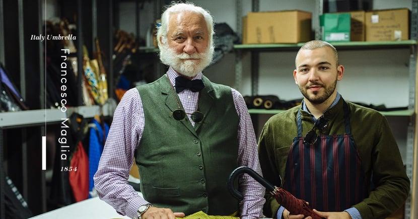【百年武器】如何打造優雅造型?英倫紳士必備的Francesco Maglia手工雨傘!
