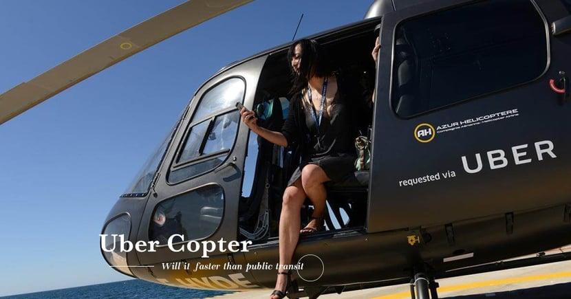 【兩大比拼】美國記者實測「Uber Copter」直升機服務!結果比公共交通更慢到達機場?
