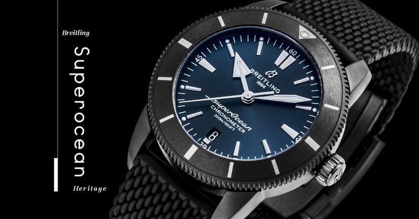 【全黑潛水】限量五十枚!Breitling推出香港專屬版Superocean Heritage腕錶!