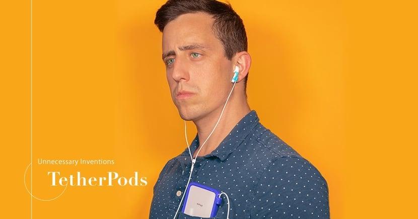 【創意滿分】無線耳機變有線?美國惡搞設計有助解決AirPods遺失問題!