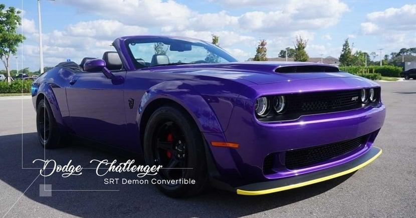 【罕見改裝】風流肌肉車之選!敞篷版Dodge Challenger SRT Demon會否合你口味?