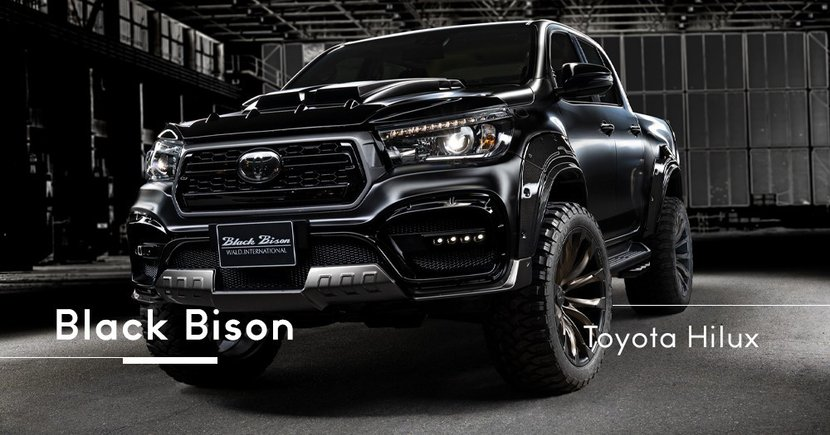 【漆黑狂徒】化身極惡全地形卡車!Toyota Hilux專屬「Black Bison」Edition現身!