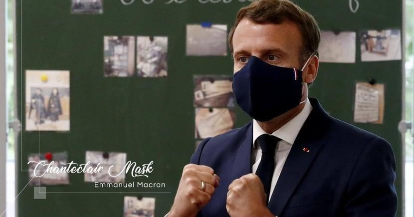 【銅芯抗疫】港版口罩像內衣?法國總統親身演繹何為具時尚風格的口罩!